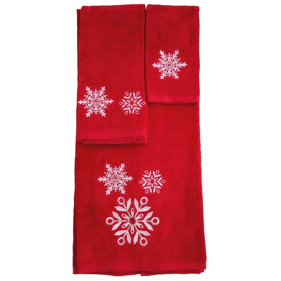 Marina Decoration Snowflake Towel Set - 3pc.