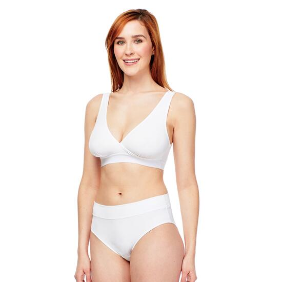 Carole Martin Slip-On Crossover Bra- White
