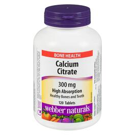 Webber Naturals Calcium Citrate 300 mg - 120 Tablets