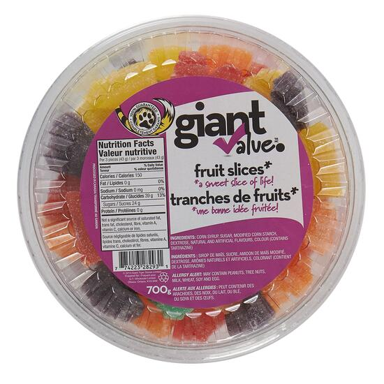 Giant Value Fruit Slice Candies - 700g
