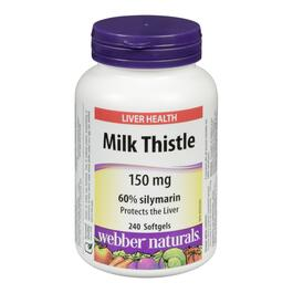 Webber Naturals Milk Thistle 150 mg - 240 Softgels