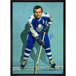 Ron Ellis Signed Toronto Maple Leafs Framed Canvas - 22in.x31in.
