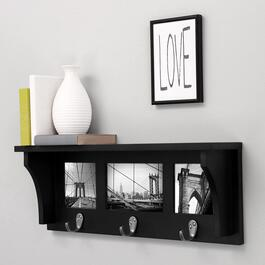 nexxt Riley Picture Collage Wall Mounted Coat Rack - Black