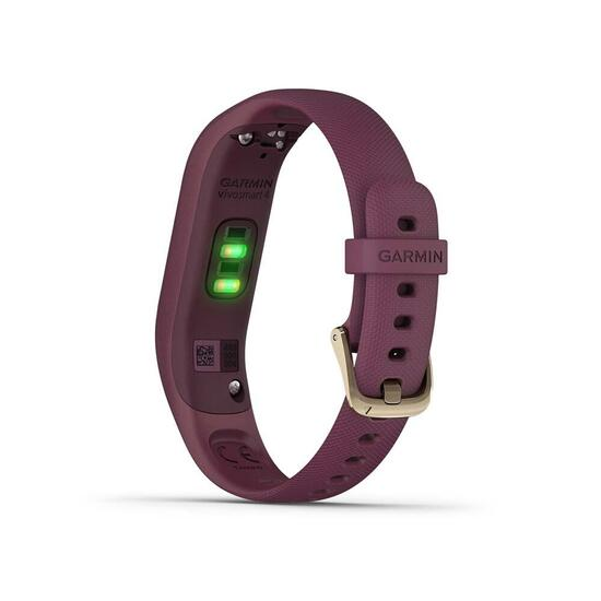 Garmin vívosmart® 4, Small/Medium, Berry with Light Gold Hardware