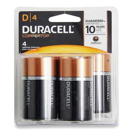 Duracell D Coppertop Batteries - 4pk.
