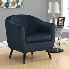 Monarch Specialties Dark Blue Mosiac Velvet Accent Chair