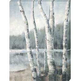 Birch by the Lake Canvas Art - 18in. x 24in.