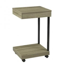 Brassex Dark Taupe Laptop Stand with Storage Drawer