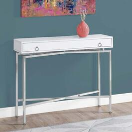 Monarch Specialties Accent Table- Glossy White