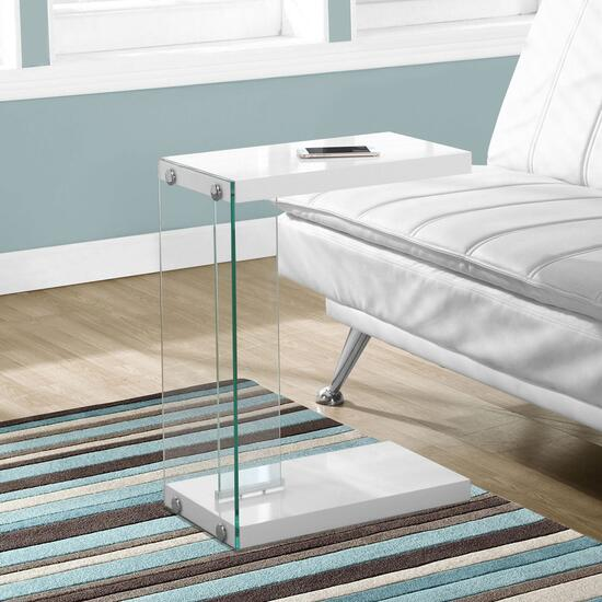 Monarch Specialties Inc. Accent Table with Tempered Glass