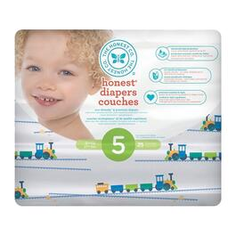 The Honest Company Trains Patterned Diapers Size 5 - 100pk.