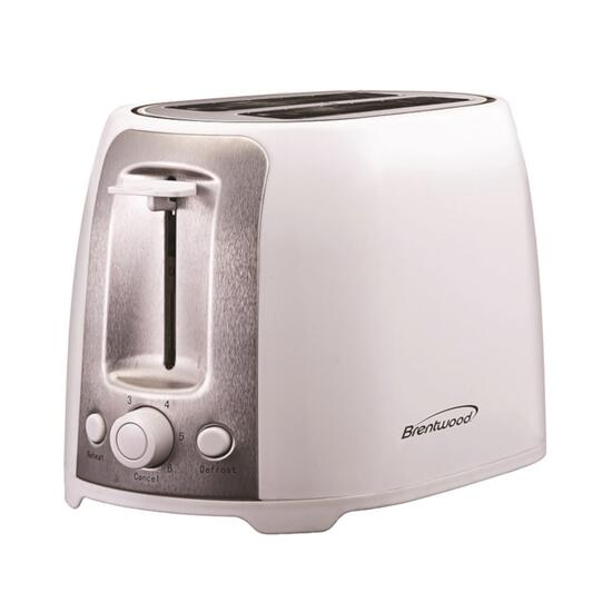 Brentwood White Cool Touch 2-Slice Toaster