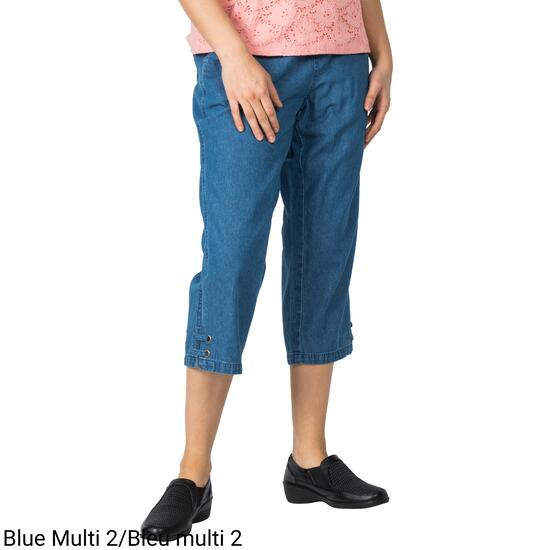Classic Editions Women's Denim Capri - S-XXL