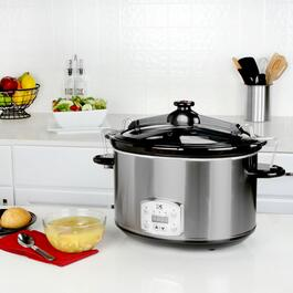 Kalorik Stainless Steel Digital Slow Cooker with Locking Lid