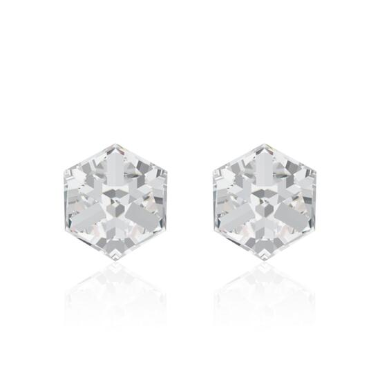 Swarovski Crystal Cube Stud Earrings - 6mm