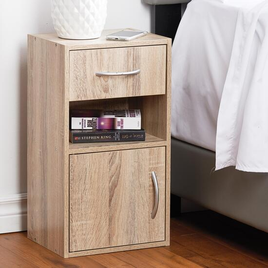 HomeStyles Night Stand with Drawer - Natural