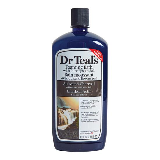 Dr. Teals Activated Charcoal Foaming Bath - 34oz.