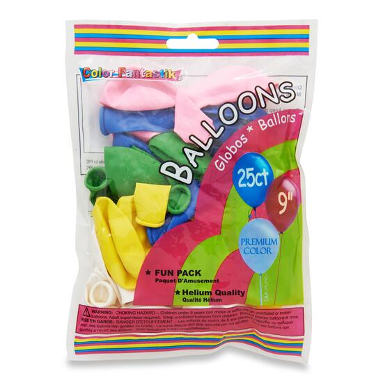 Colour Fantastic Balloons - 25pk.