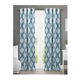 Exclusive Home Medallion Teal Blackout Thermal Curtain Panels 2pc. - 96in.