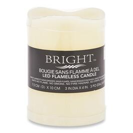 Bright LED Flameless Candle - 4in.