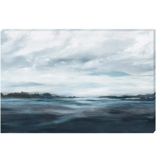 Blissful Blue Canvas Art - 36in. x 24in.
