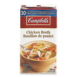 Campbell's Chicken Broth 30% Less Sodium - 900ml