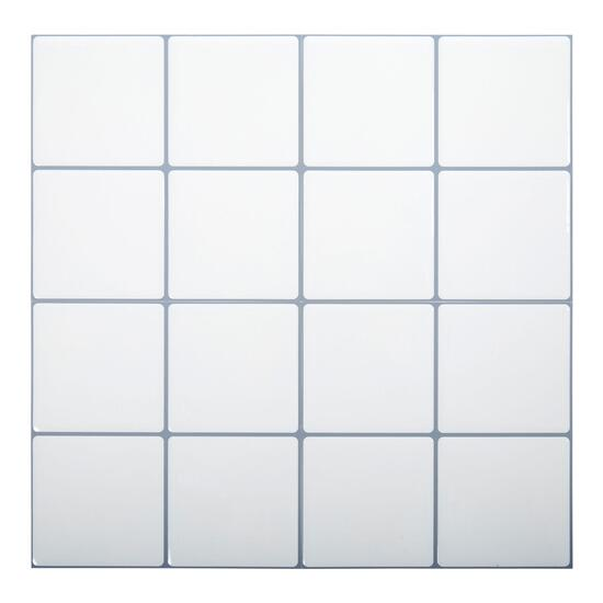 Truu Design White Square Wall Tiles - 6pk.