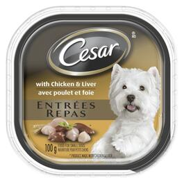 Cesar Entrées Chicken & Liver Dog Food - 100g