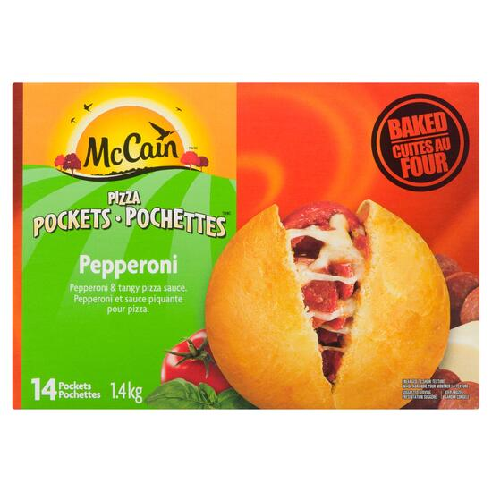 McCain Pepperoni Pizza Pockets 14pk. - 1.4kg