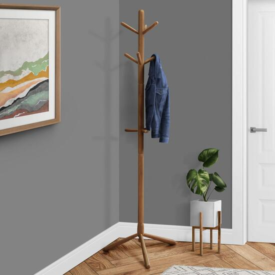 Monarch Specialties Inc. Contemporary Style Wood Coat Rack