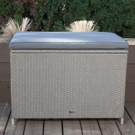 Patioflare Ferrara Ash Brown Wicker Deck Box