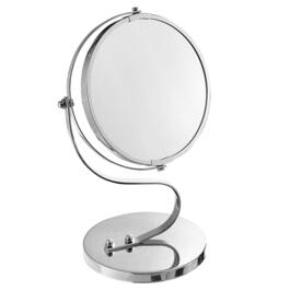 Chrome Plated Mirror with Spinning Base