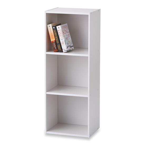 HomeStyles White 3-Tier Bookcase