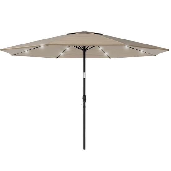 Serenity Bay Sand Outdoor Umbrella with Solar Light