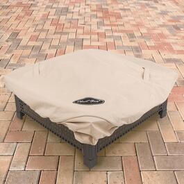 Pleasant Hearth Beige Medium Square Fire Pit Cover