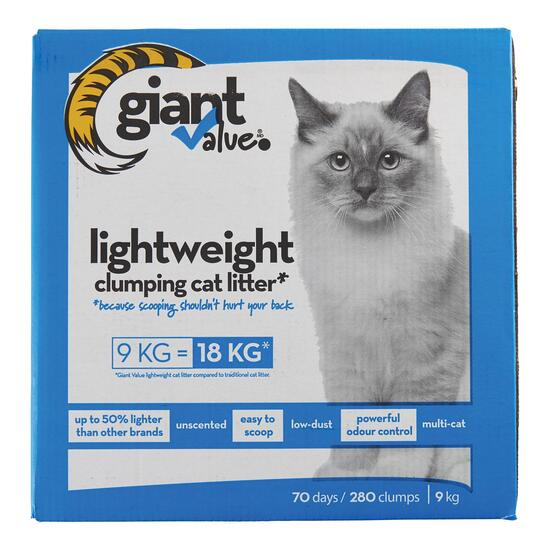 Giant Value Lightweight Cat Litter - 9kg