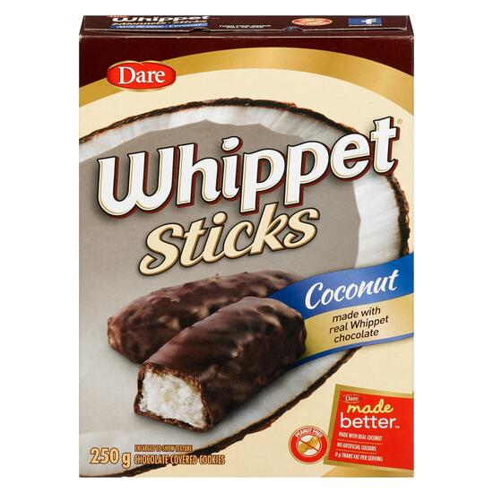 Whippet Sticks Coconut Chocolate Covered Cookies - 250 g
