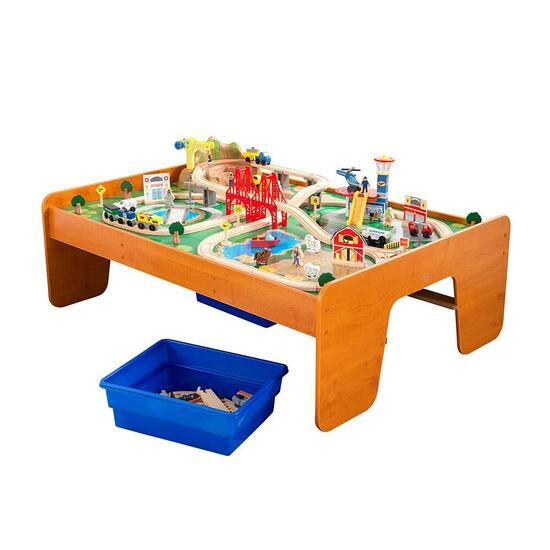 KidKraft Ride Around Town Train Set and Table