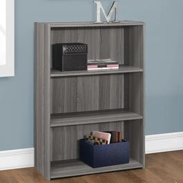 Monarch Specialties Grey Bookcase - 36in.