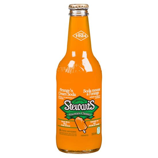 Stewart's Fountain Classics Soda Orange'n Cream - 355 ml