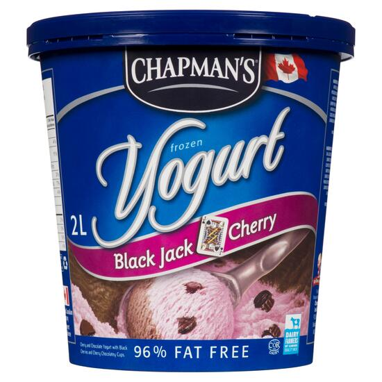 Chapman's Frozen Black Jack Cherry Yogurt - 2L