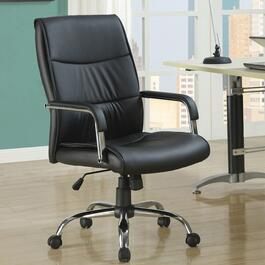 Monarch Specialties Black Faux Leather Office Chair