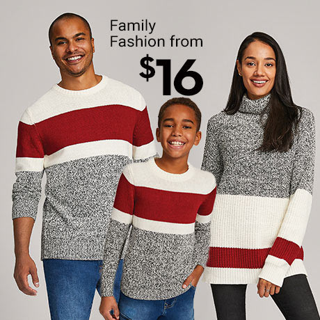 Family fashion from $16