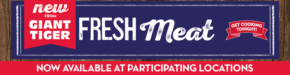 Fresh meat - Now available at participating locations