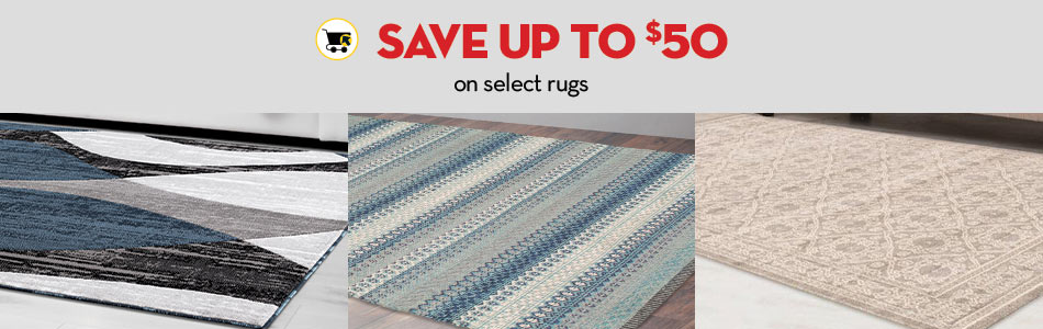 Save up to $50 on select rugs