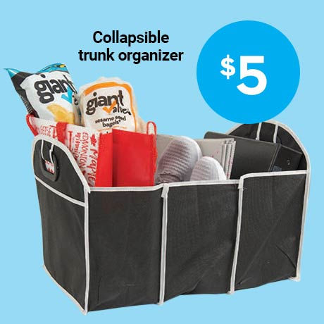 $5 Collapsible trunk organizer