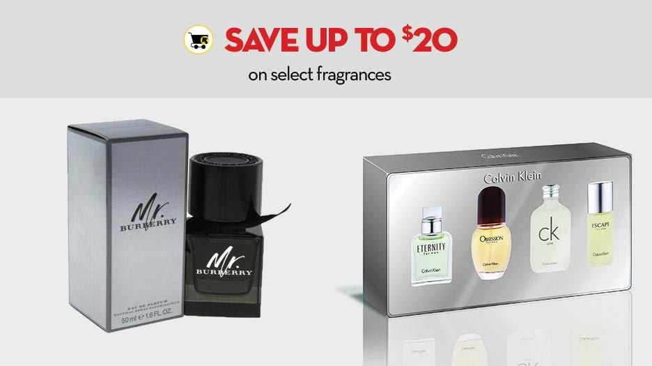 Save up to $20 on select fragrances