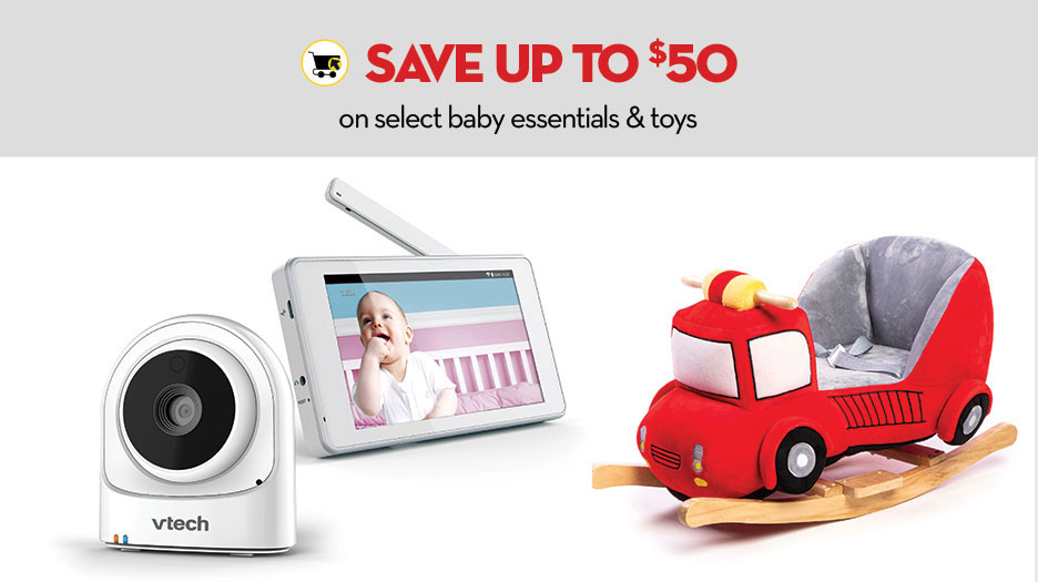 Online only - Save up to $50 on select baby essentials & toys