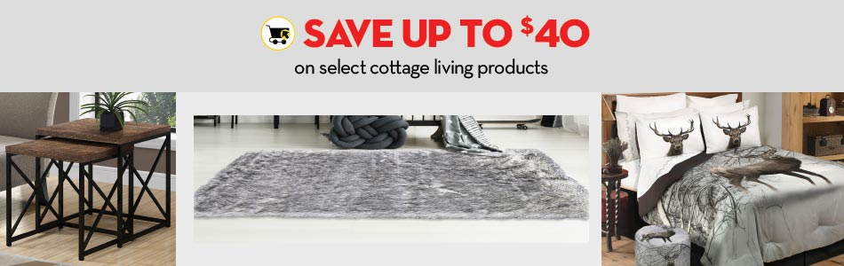Save up to $40 on select cottage living products