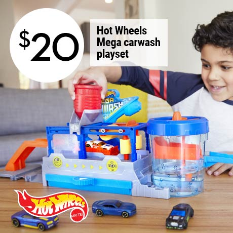 $20 Hot Wheels Mega carwash playset